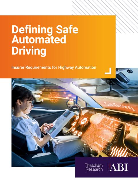 Defining Safe Automated Driving - report front cover