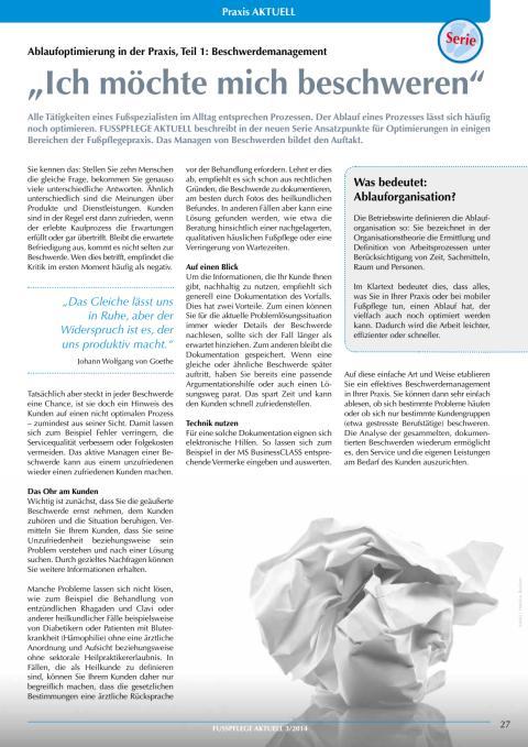 Ablaufoptimierung in der Praxis: Beschwerdemanagement