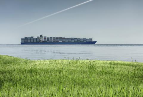Container vessel green coast