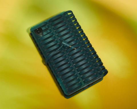 sony h.ear on blue phone case