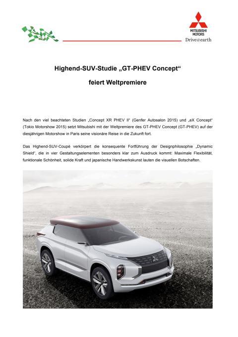 """Highend-SUV-Studie """"GT-PHEV Concept"""" feiert Weltpremiere"""
