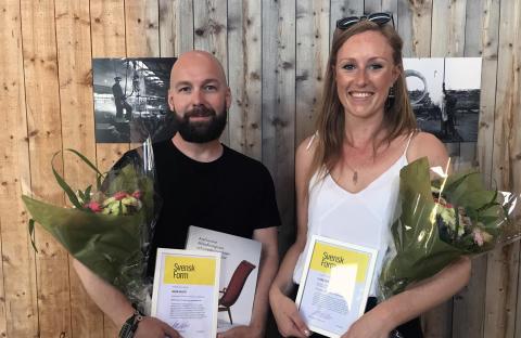 Svensk Forms stipendier 2018 går till Clara Nordenhök och Johan Kauppi