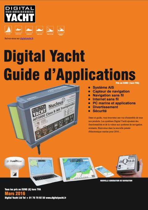 Guide d'applications Digital Yacht 2016