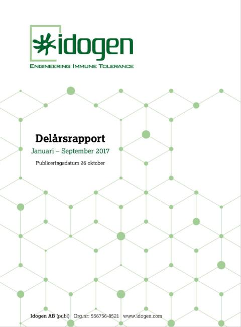 Delårsrapport Januari-September 2017