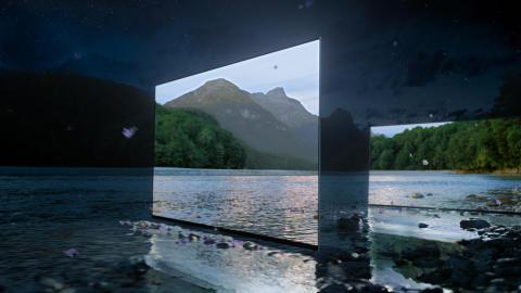 Čaroben oglas za nove Sonyjeve televizorje BRAVIA OLED napolni čudovit temen gozd s fantastično bleščečo svetlobo