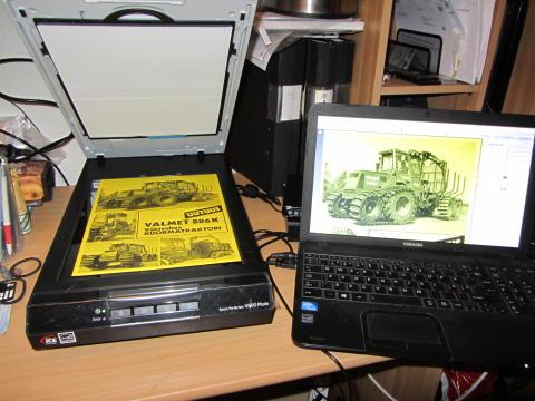 Ett av tillskotten i Elmia Classics, e-museet för gamla skogsmaskiner.