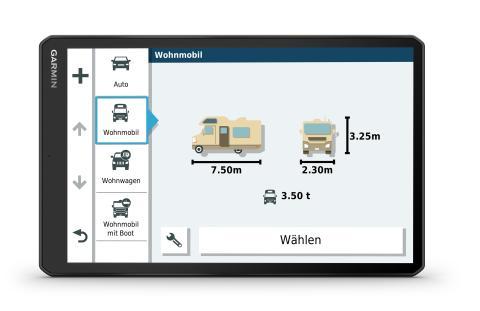 Camper 1090 MT-D_Fahrzeugspezifische Routenführung