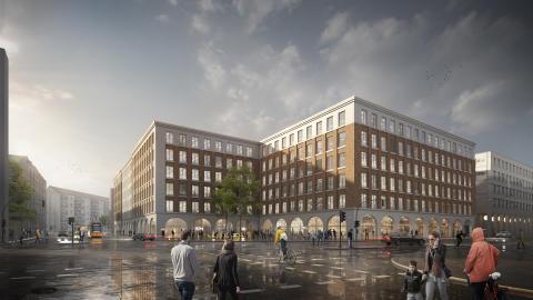 Modernes Bürogebäude für Dresdens Zentrum