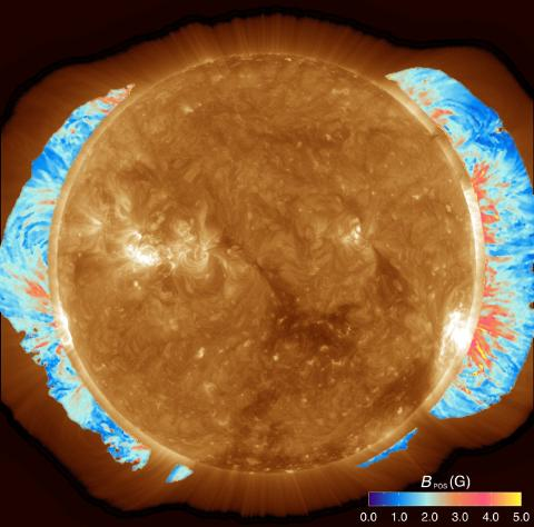 Global magnetic field of the solar corona measured for the first time