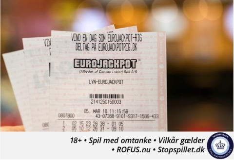 Dansker vinder 8,8 millioner kr. i Eurojackpot