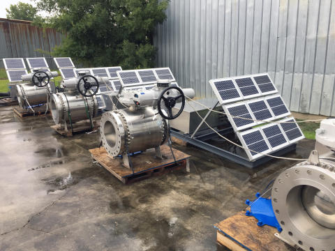 Rotork electric actuators used in US shale oilfield pipeline's solar solution