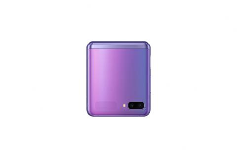 Samsung Galaxy Z Flip_closed front_purple mirror