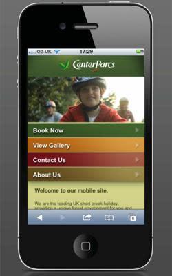 Center Parcs launches mobile site