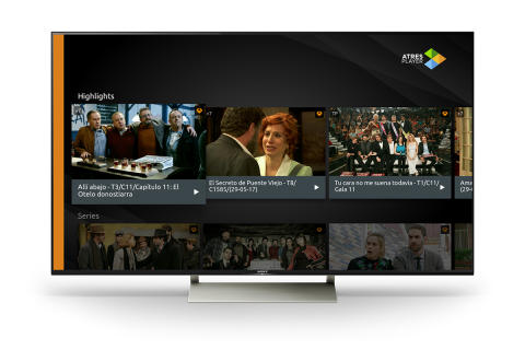 La nueva app Atresplayer disponible en los televisores de Sony