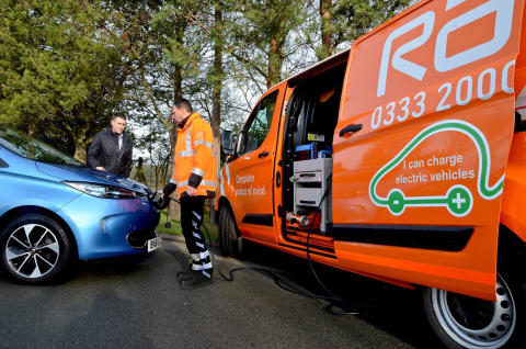 RAC patrol van with EV Boost 1