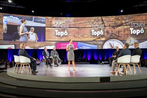 Tess Mattisson and Choice Executives on stage.