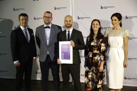 Fundamentet i Aarhus modtog Kronprinsparrets Sociale Stjernedryspris 2018. Prisen blev modtaget af Fundamentets daglige leder, Christian Rundager.