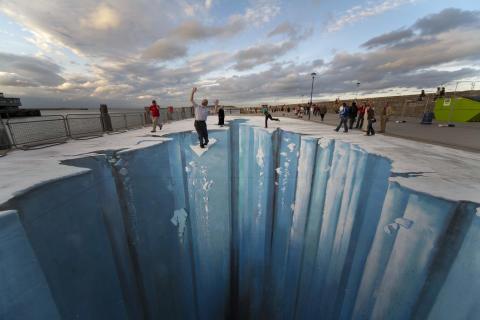 Samsungs gigantiska kärlekshyllning i 3D i Kungsträdgården