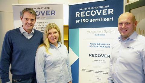 Recover ISO-sertifisert
