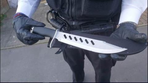 Recovered knife