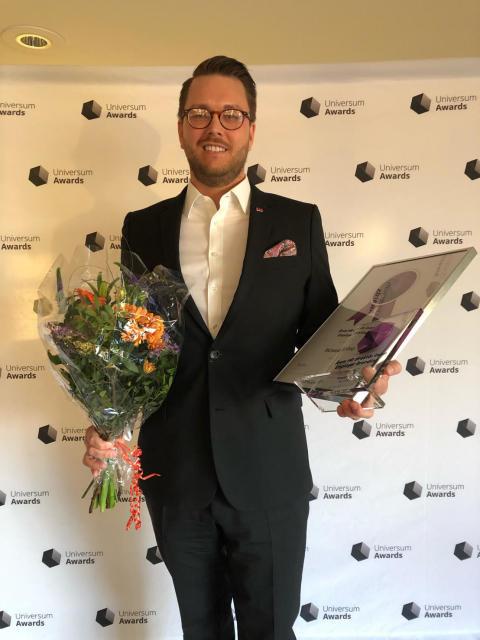 Richard Orgård. Årets personaldirektör inom Employer Branding 2019.
