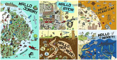 Hele Hallo-serien til Anna Fiske