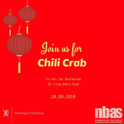 Last chance: Chili Crab Welcome Back Party 28 September
