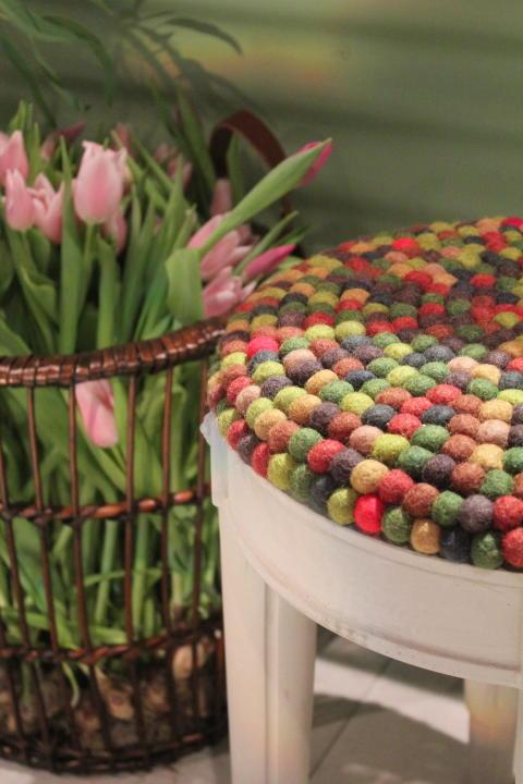 Tulpaner och pall