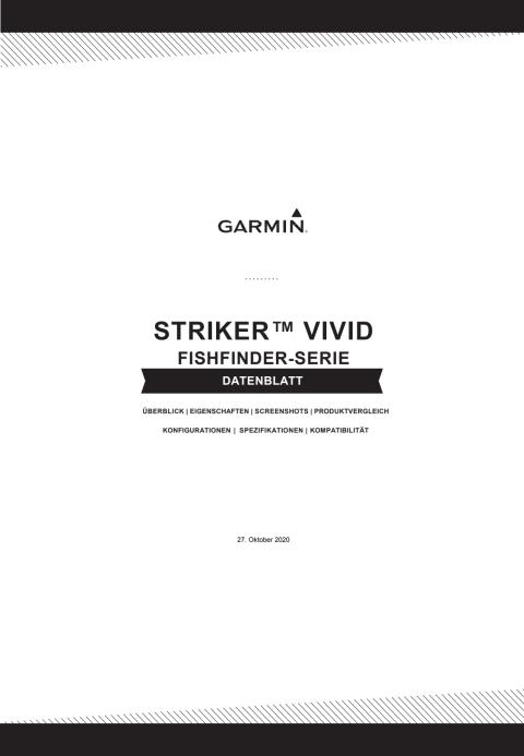 Datenblatt Garmin STRIKER Vivid Fishfinder Serie