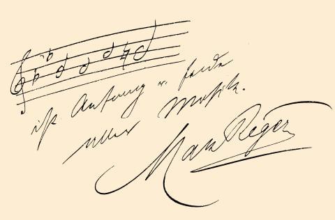 Max Reger Autograph