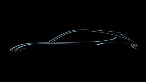 Mustang inspired SUV sketch
