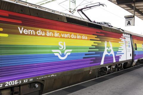 Åk med SJs Pridetåg i sommar