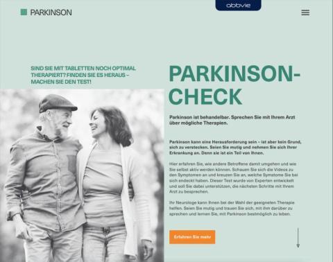 Welt-Parkinson-Tag: Parkinson-Check.de hilft, fortgeschrittenen Parkinson zu verstehen
