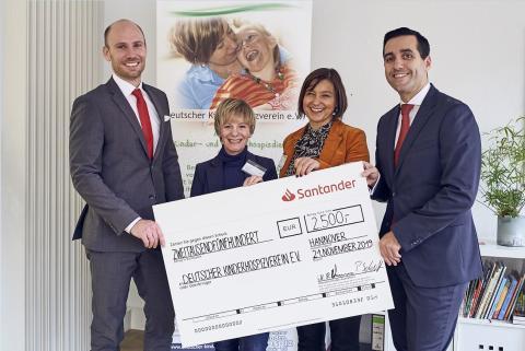 Neue Perspektiven schaffen: Santander Select spendet an Deutschen Kinderhospizverein e.V.