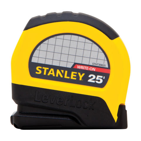 STANLEY® Leverlock® Tape Rules Deliver Precise Measurements In A Comfortable Ergonomic Shape