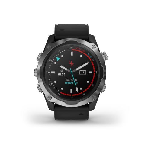 Garmin Descent Mk2 Schwarz Analoges Watchface