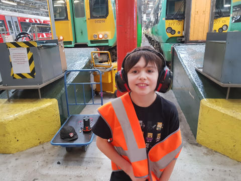 Southern makes autistic boy's day with visit to depot