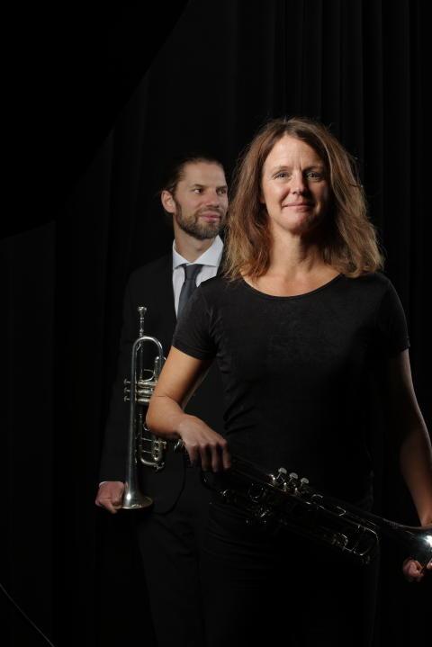 Malin Silbo Ohlsson trumpet, Andreas Carlsson Walleng trumpet