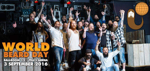 World Beard Day firas i Stockhom med Europas största skäggfest!