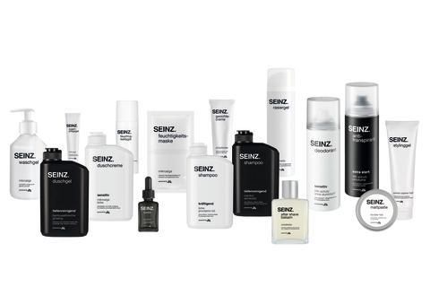 Ab sofort in allen dm-Märkten und online erhältlich: Die Produkte der neuen Männermarke SEINZ. powered by dm