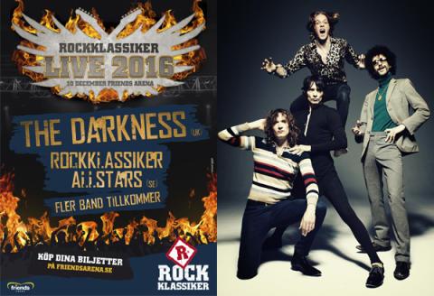 The Darkness och Rockklassiker All Stars till Rockklassiker Live 2016 på Friends Arena