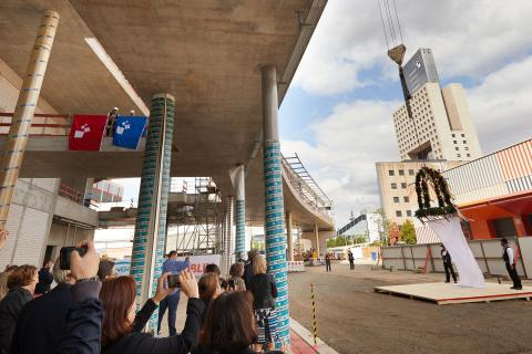 ​Topping-out ceremony for new Hall 12: Half-time on Frankfurt's largest construction site