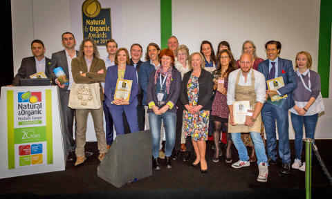 Leading natural and organic brands honoured at Natural & Organic Awards Europe 2016