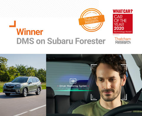 Subaru's Driver Monitoring System (DMS) beats stiff competition  to win 2020 What Car? Technology Award