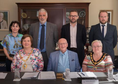 Members of the Northern Ireland Housing Council (NIHC) were welcomed to the Braid by the Mayor and Deputy Mayor of Mid and East Antrim Borough Council
