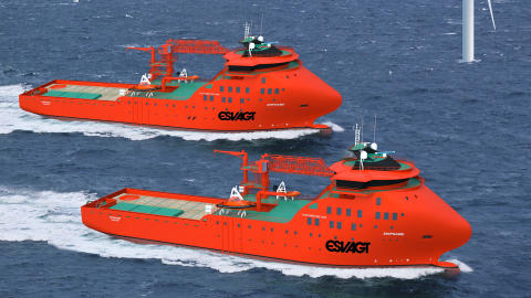 Wind service operation vessels are floating workshops and offices
