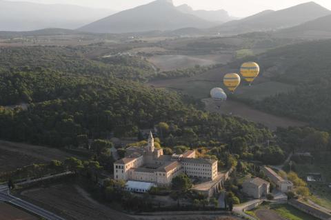 Ballongfärd över Katalonien