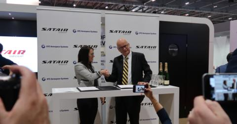 Satair Group and UTC Aerospace Systems sign long - term distribution deal for Goodrich hoists and winch products