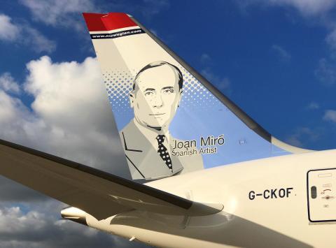 Joan Miró presidirá dos aviones de Norwegian