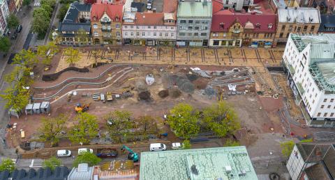 Första delen av Stora torg i Eslöv öppnar 13 juni